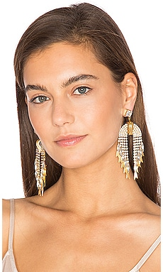 Pixie Earrings in Golden Crystal