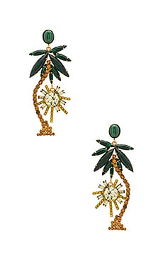 Palm Tree Earrings in Tropical