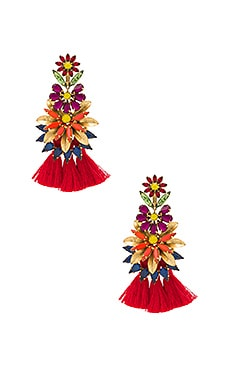 Tassel Earrings in Tropical