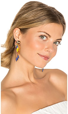 Paulina Parrot Earring in Tropical