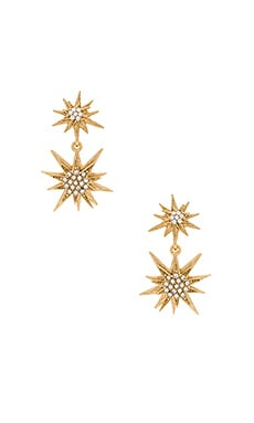 Bianca Earring in Golden Crystal