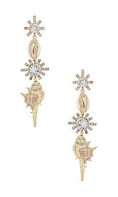 X REVOLVE Oceana Earrings Elizabeth Cole $148 NEW