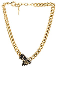 Elizabeth Cole Sage Necklace in Crystal Golden Shadow