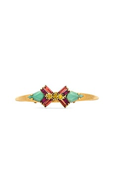 Elizabeth Cole Sagher Cuff in Fuchsia & Lime