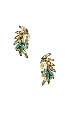 Elizabeth Cole Knite Earring in Turquoise Matrix