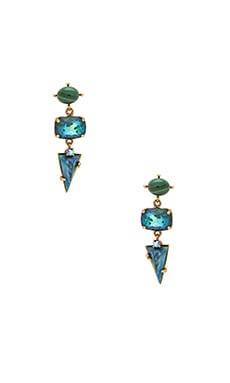 Elizabeth Cole Multi Stone Drop Earring in Ultra Emerald