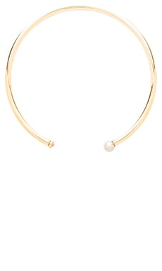 Elizabeth Cole Collar Necklace in Crystal