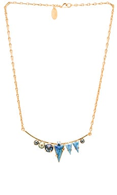 Elizabeth Cole Multi Stone Necklace in Ultra Emerald