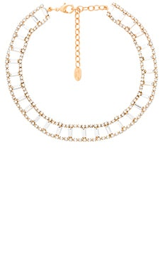 Elizabeth Cole Link Choker in Golden Neutral