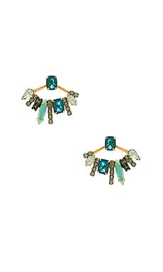 Elizabeth Cole Mixed Stone Earring in Seafoam