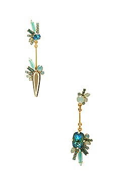 Elizabeth Cole Mismatched Drop Earring in Seafoam