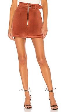 Maddie Velvet Skirt ELLEJAY $158
