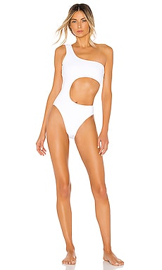 7046a81638f8d One-Piece Swimwear in Black, Red, and White