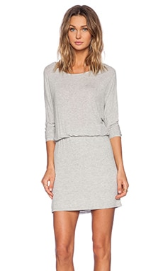 Ella Moss Dolman Dress in Heather Grey
