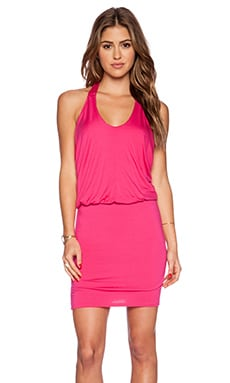 Ella Moss Bella Y Back Mini Dress in Bouganvillea