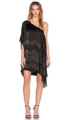 Ella Moss Vita One Shoulder Dress in Black