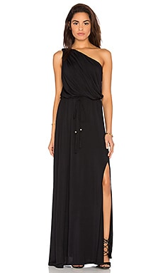 Leda One Shoulder Dress in Black