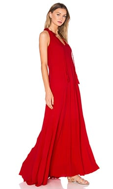 Miko Maxi Dress in Flame