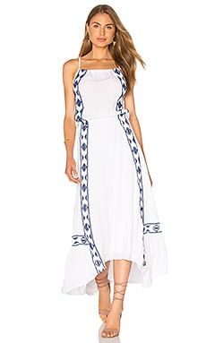 Usiku Maxi Dress in White