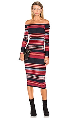 Laurence Sweater Dress in Scarlet Multi