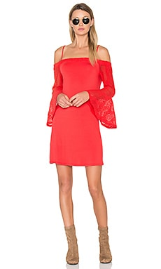 Annalia Dress en Rouge Tango
