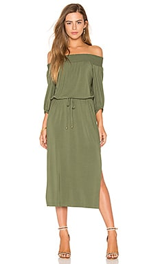 Bella Midi Dress in Olive Night