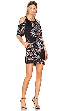 Wanderer Floral Dress in Black