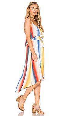 Prisma Shadow Dress in Rainbow
