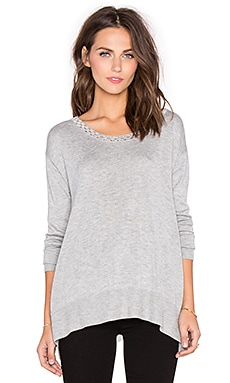 Ella Moss Perth Sweater in Heather Grey