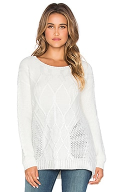 Ella Moss Duchess Sweater in Winter White & Silver