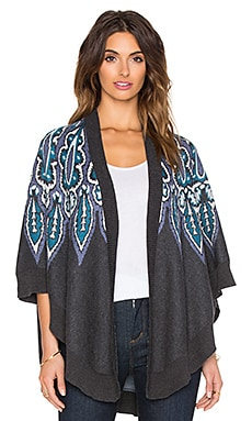 Caprice Cardigan in Charcoal & Multi