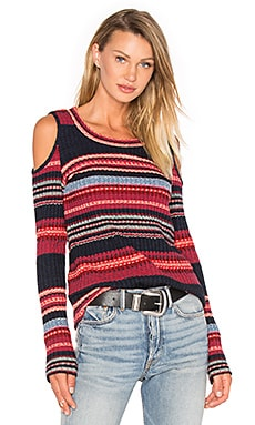 Laurence Sweater in Scarlet Multi