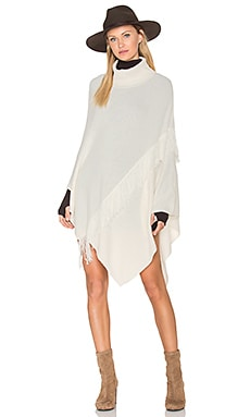 Lupe Fringe Poncho in Cream