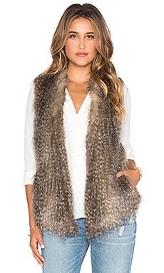 Ella Moss Lyla Faux Fur Vest in Oatmeal