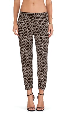 Ivana Printed Straight Leg Pants in Black