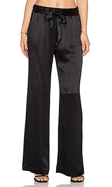 Ella Moss Izzy Wide Leg Pant in Black