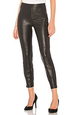 Faux Leather Legging en Noir