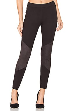 Lovelean Faux Suede Legging in Black
