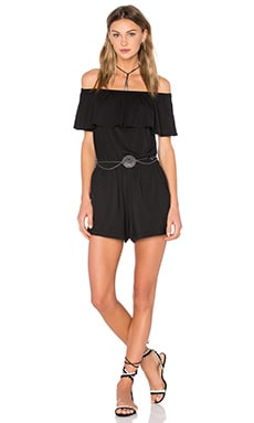 Ella Moss Bella Romper in Black