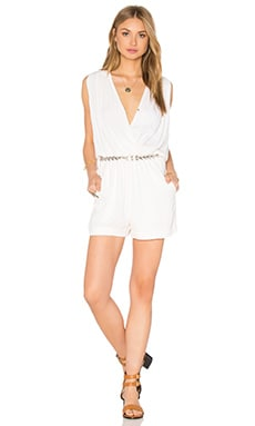 Ella Moss Katella Crossfront Romper in Natural