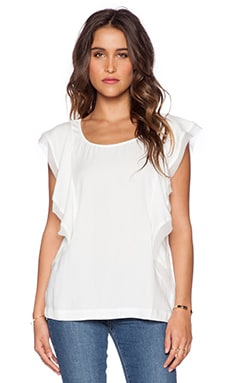 Ella Moss Stella Flutter Top in White