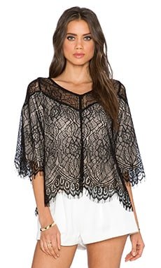 Ella Moss Amara Lace Top in Black