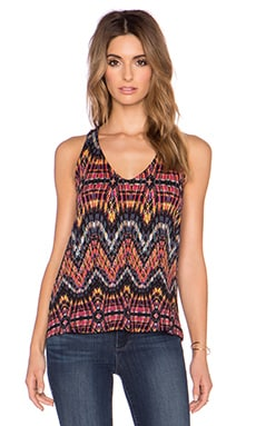 Ella Moss Souk V Neck Tank in Black