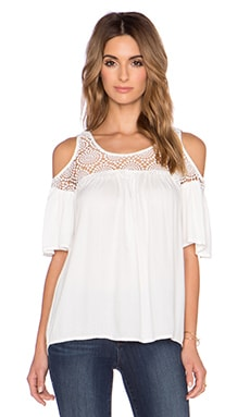 Ella Moss Noa Cold Shoulder Top in Natural
