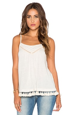 Ella Moss Ola Fringe Tank in Natural