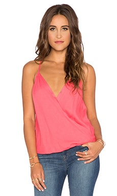 Ella Moss Stella Drape Lace Tank in Watermelon