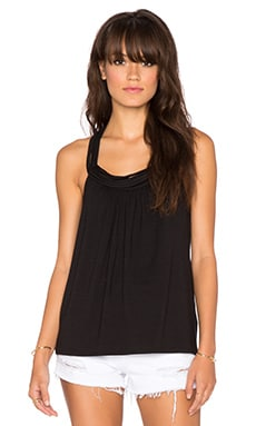 Ella Moss Bella Y Back Tank in Black