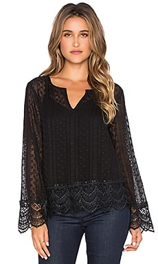 Ella Moss Pixie Blouse in Black