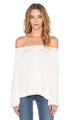 Ella Moss Peasant Top en Naturel