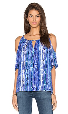 Ella Moss Inka Cold Shoulder Tank in Royal